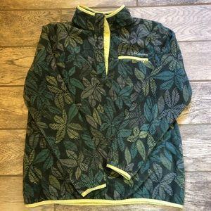 Fun Columbia fleece rare palm leaf print cute!!